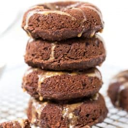 These HEALTHY Banana Chocolate Donuts are made vegan, GF and made in a BLENDER!