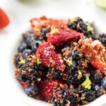 Maple Lime Triple Berry Quinoa Salad