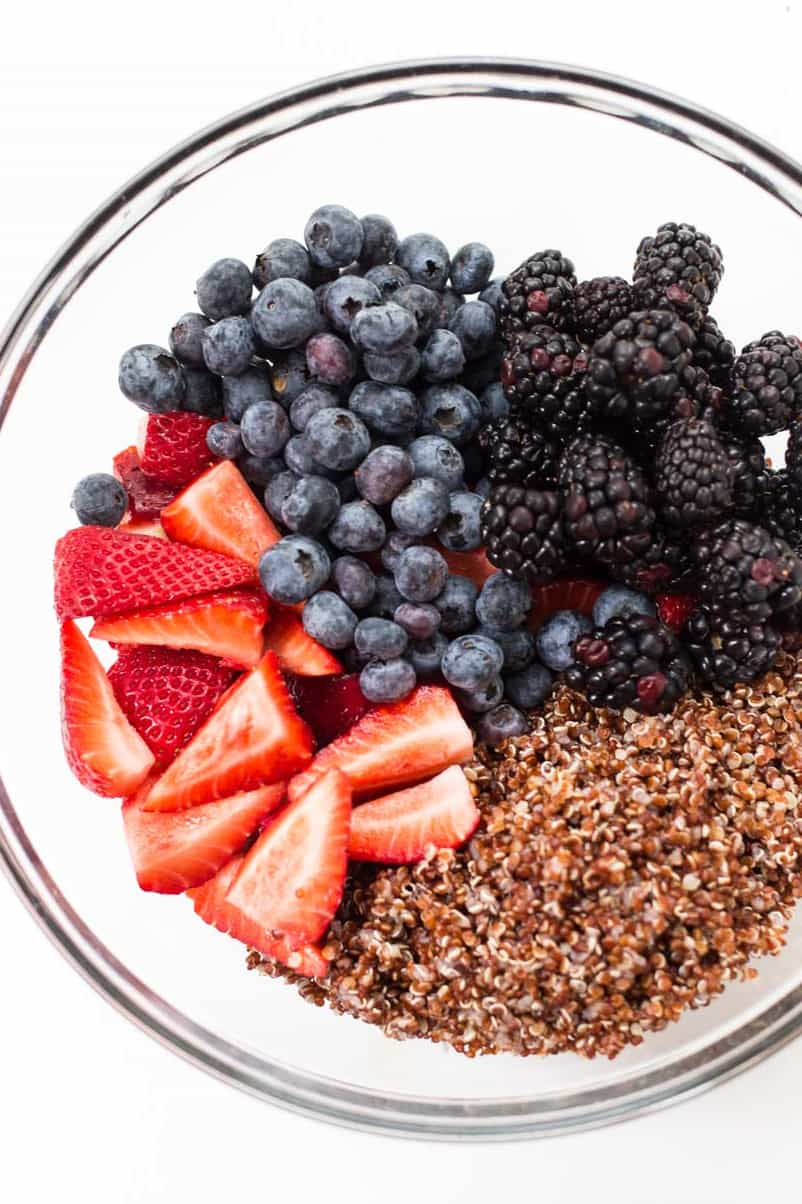 Triple Berry Quinoa Salad
