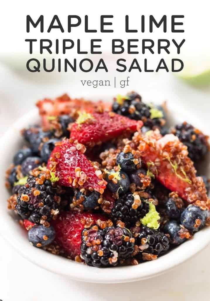 Triple Berry Quinoa Salad