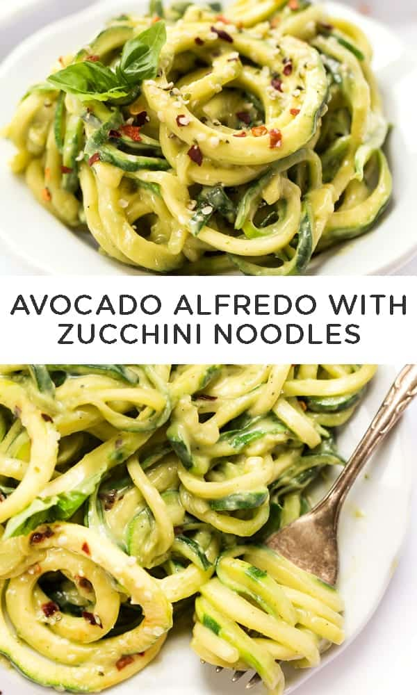 Avocado Alfredo with Zucchini Noodles