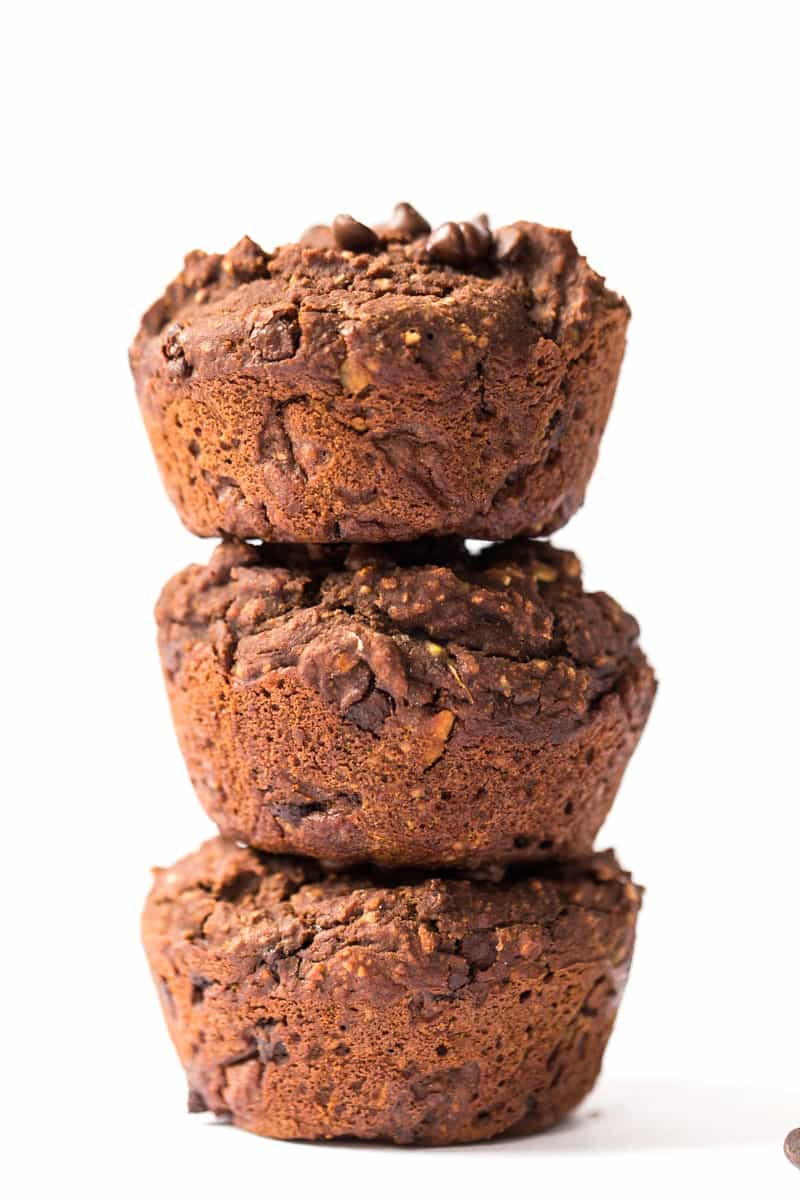 These DOUBLE Chocolate Muffins are vegan, gluten-free and made with a secret ingredient!