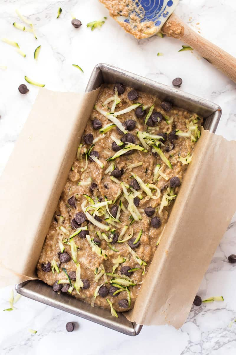 How to make AMAZING + HEALTHY Chocolate Chip Zucchini Bread! [gluten-free]