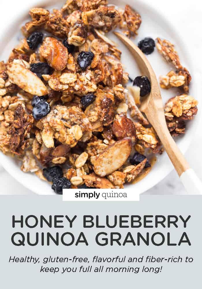 Honey Blueberry Quinoa Granola