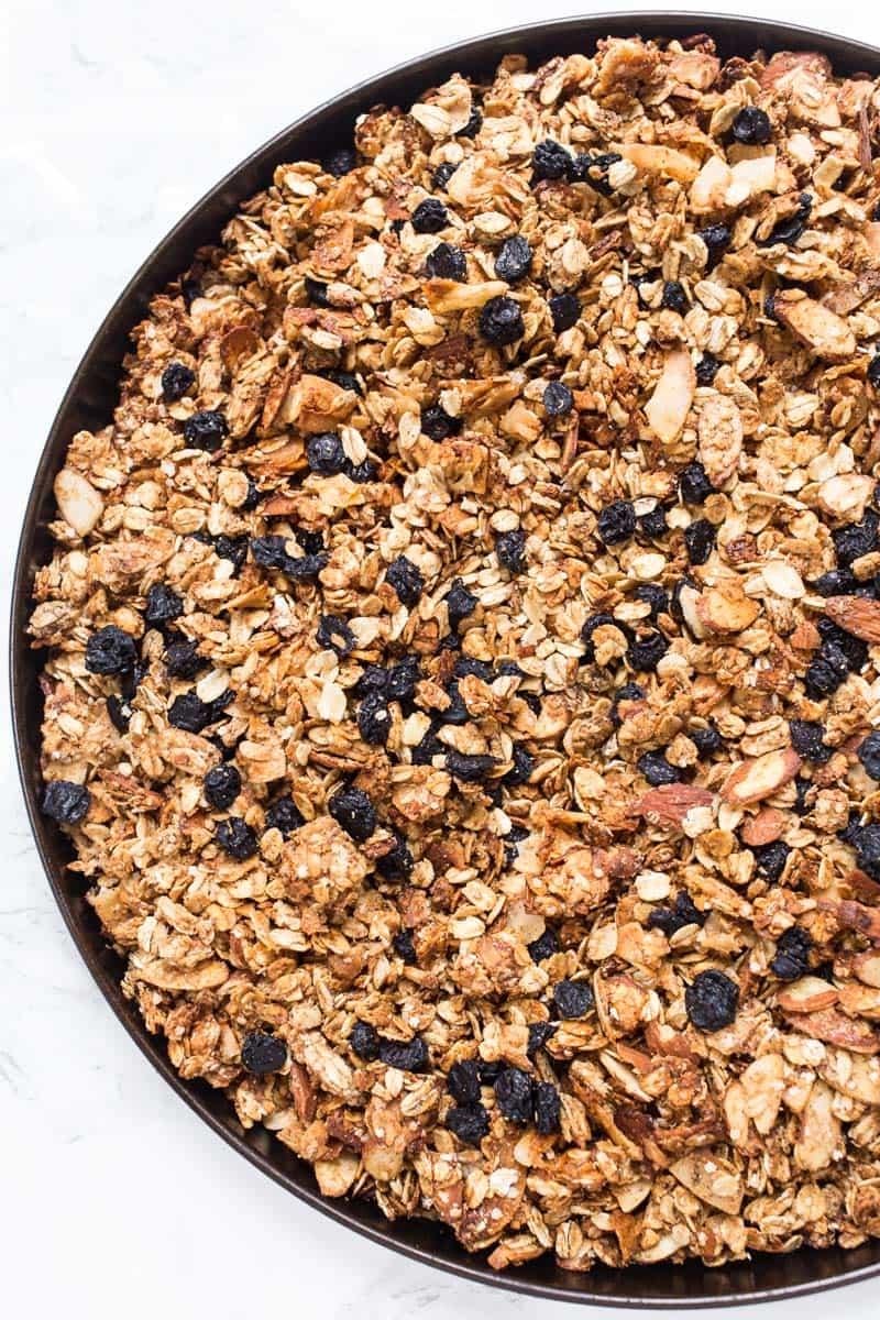 How to make the most DELICIOUS Honey Blueberry Quinoa Granola recipe!