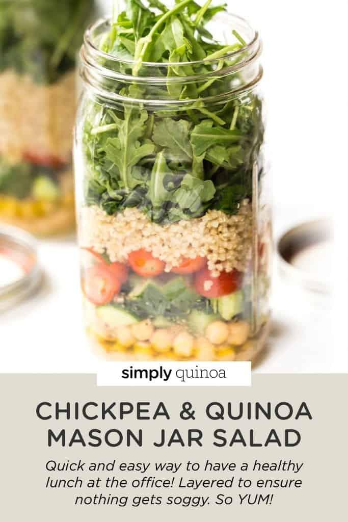 Chickpea & Quinoa Mason Jar Salads