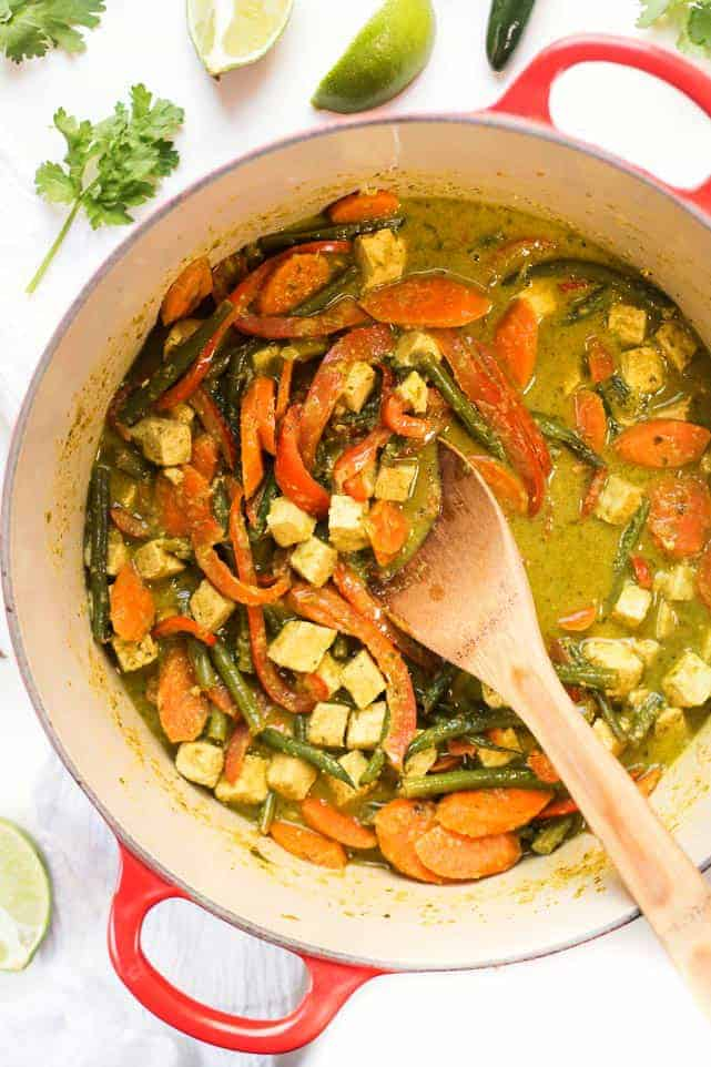 Easy vegan green curry with forbidden rice simply quinoa recipe notes forumfinder Image collections