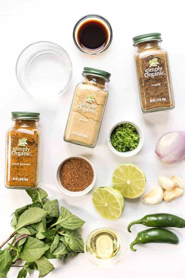 How to make a homemade Vegan Green Curry Paste using dried spices!