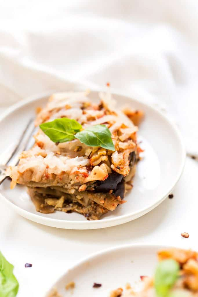 This VEGAN Eggplant Lasagna recipe is 100% made from scratch, healthy and gluten-free!