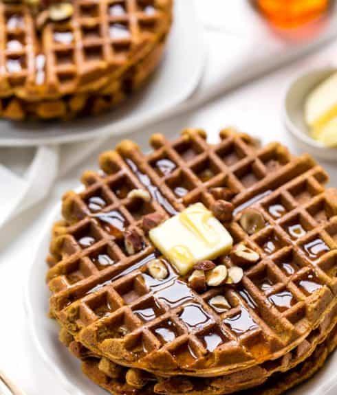 Healthy Omega-3 Sweet Potato Waffles