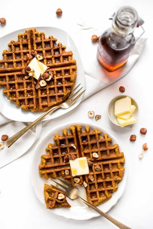 These SWEET POTATO WAFFLES are packed with omega-3s, are healthy and also gluten-free!