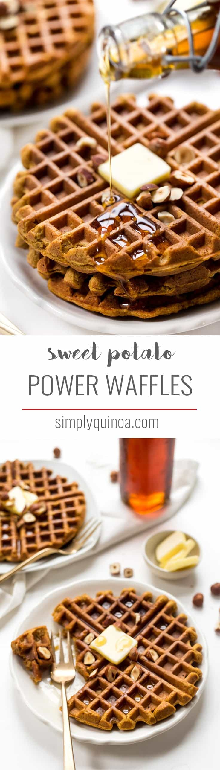 These HEALTHY Sweet Potato Waffles are packed with Omega-3s and make a perfect weekend breakfast! They're light, fluffy, flavorful and also gluten-free!