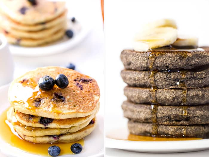 How to make VEGAN pancakes using easy vegan egg substitutes!