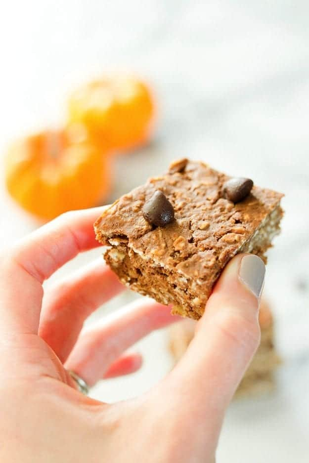 HEALTHY Pumpkin Protein Bars + 14 other delicious pumpkin breakfast recipes!