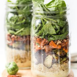Fall Harvest Mason Jar Quinoa Salad