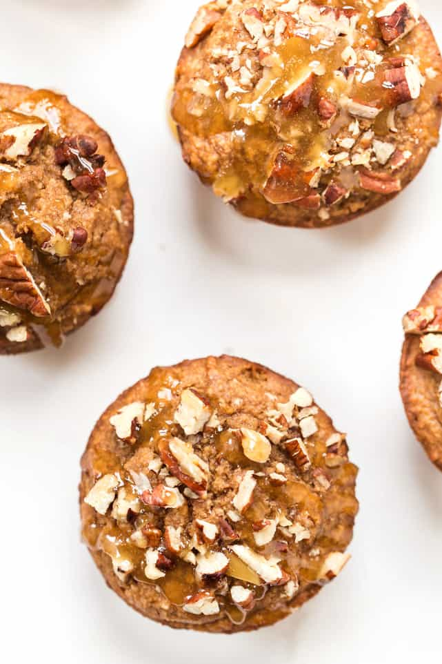 Made in a blender in just 5 minutes, these Healthy Honey Applesauce Muffins make a deliciously healthy breakfast or sweet snack!