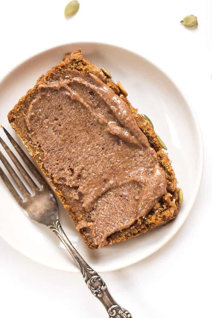 GF + VEGAN PUMPKIN BREAD -- light, tender, low in sugar and tastes absolutely amazing!