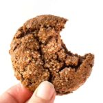 These CHEWY Ginger Molasses Cookies are super healthy, gluten-free, grain-free AND vegan!!