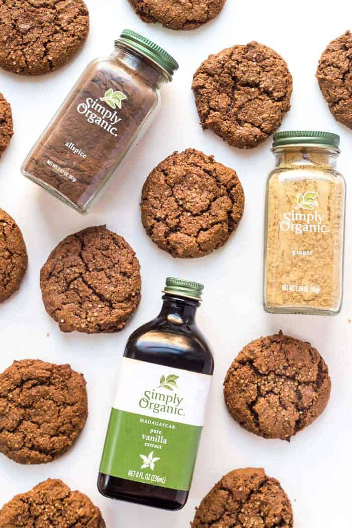 Chewy Ginger Molasses Cookies -- healthy, just one bowl and VEGAN!