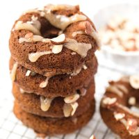 These HEALTHY Vegan Pumpkin Donuts are also gluten-free and topped with a healthy coconut icing!