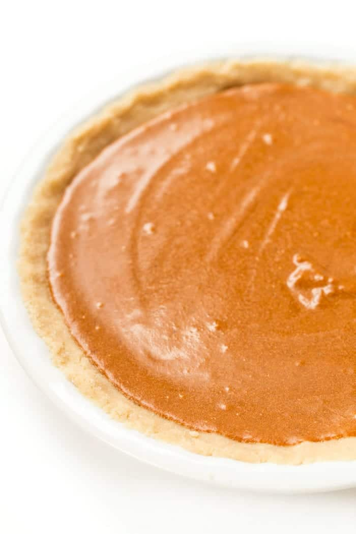 Vegan Pumpkin Pie with a grain-free almond flour crust! [gluten-free + vegan]