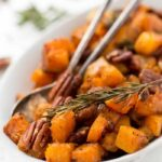 MAPLE ROASTED BUTTERNUT SQUASH -- just 7 ingredients, one bowl and ready in 40 minutes!
