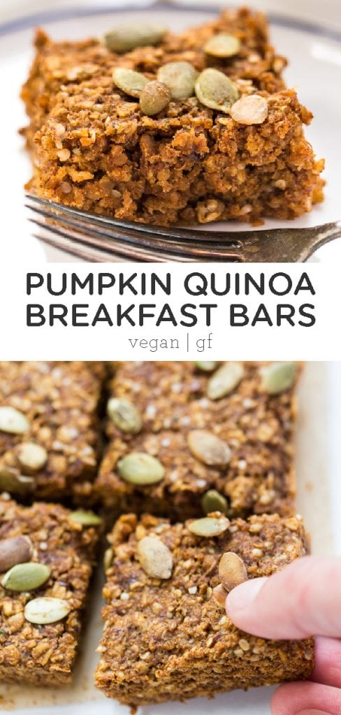 pumpkin quinoa breakfast bar