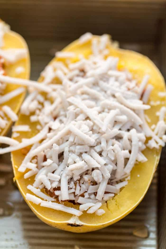 How to make Vegetarian Spaghetti Squash Boats!