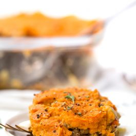 Vegan Shepherd's Pie with Whipped Sweet Potato