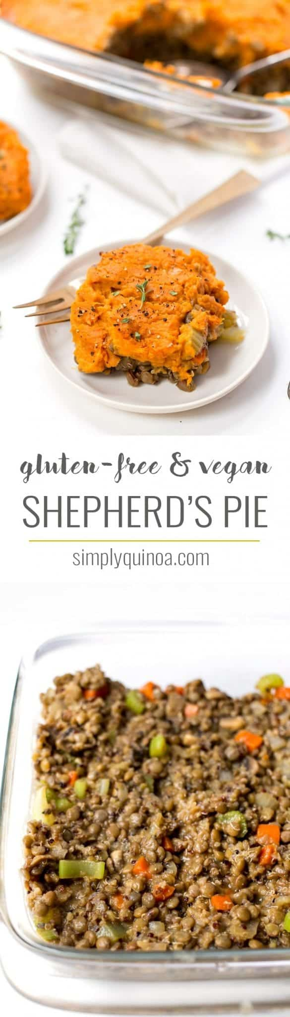 This VEGAN SHEPHERD'S PIE is a hearty comfort meal perfect for the holidays. Serve this up for Thanksgiving as a delicious plant-based side dish or entree!