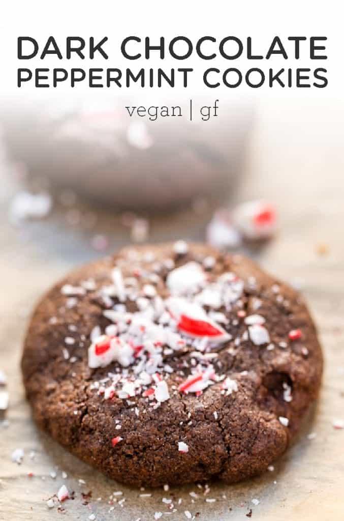 dark chocolate peppermint cookies