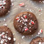 Healthy Dark Chocolate Peppermint Cookies