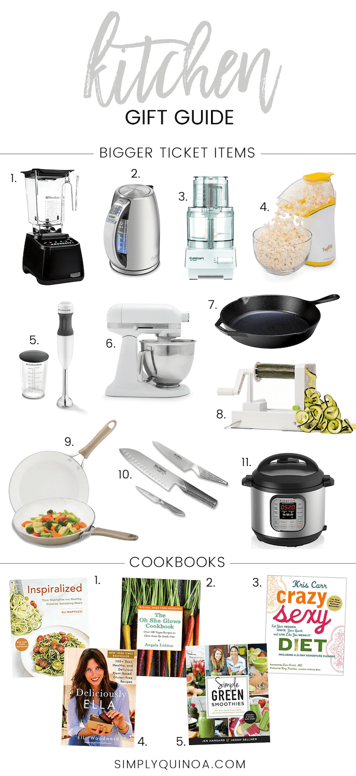 the BEST Kitchen Gift Guide of 2017!! Includes affordable small appliances and amazing cookbooks!