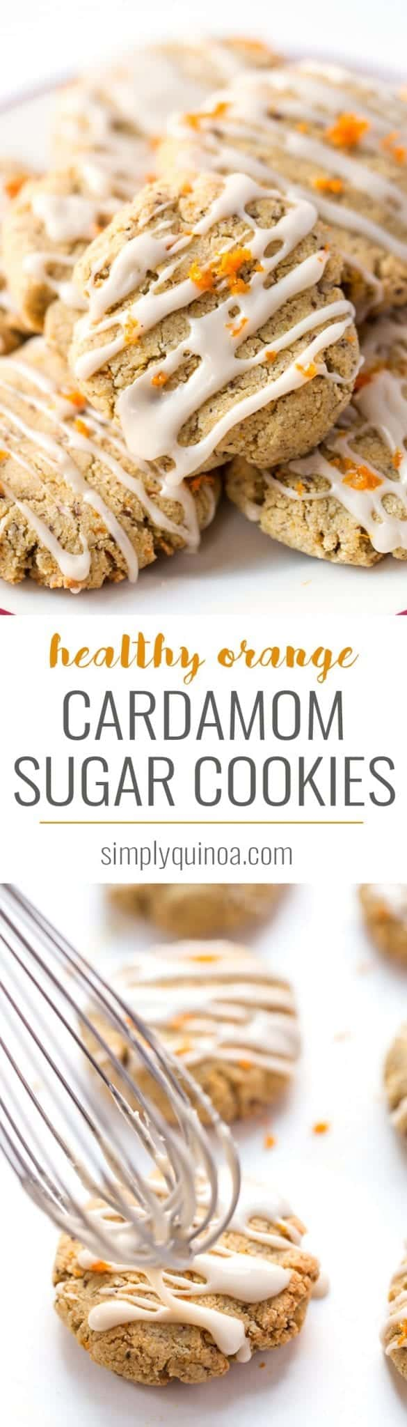 These Orange CARDAMOM Sugar Cookies are a fun twist on the classic recipe. Made with an almond flour base, they're healthy, flavorful, easy and delicious! [vegan + gluten-free]