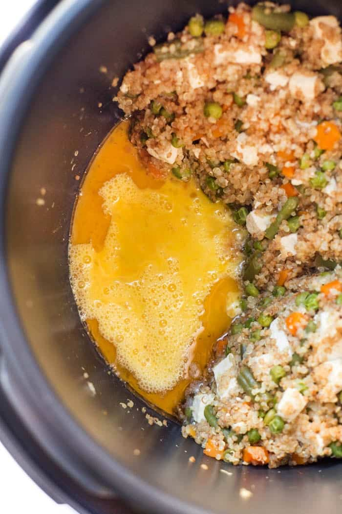 how to make fried quinoa in a pressure cooker