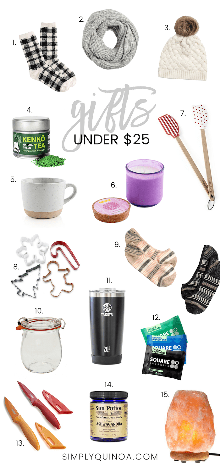 Holiday Gifts UNDER $25! Perfect for stocking stuffers, secret santa gift exchanges and more!