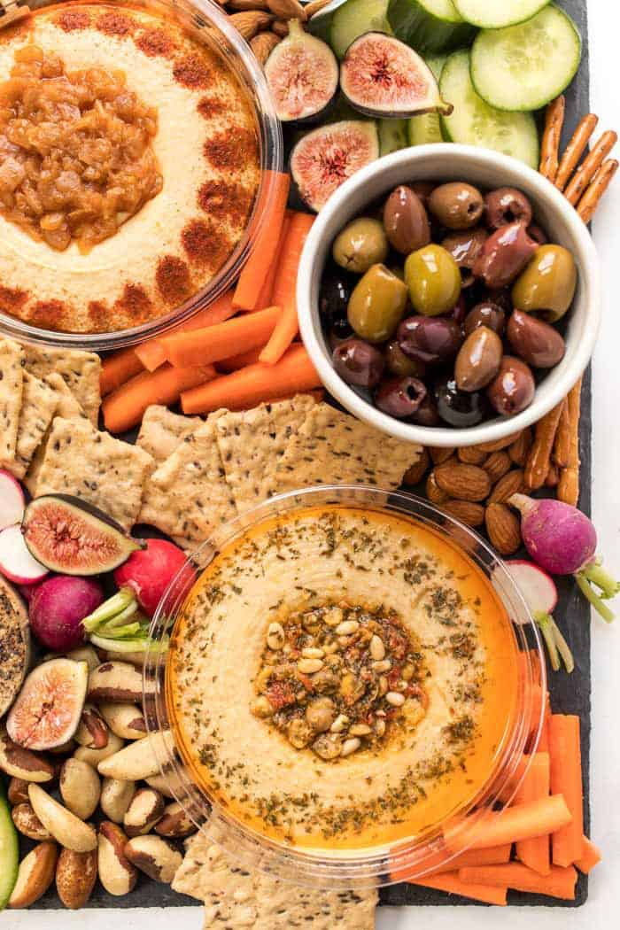 how to make a vegan snack board in 10 minutes