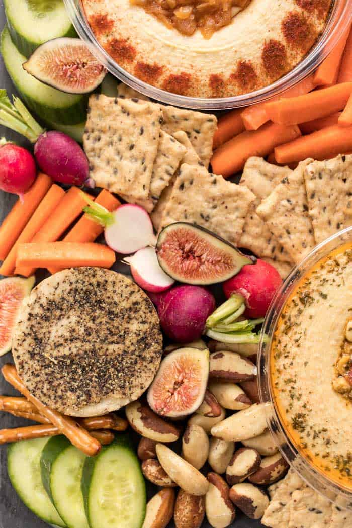 made a vegan snack board in just 10 minutes