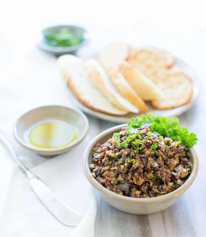how to make vegan olive tapenade