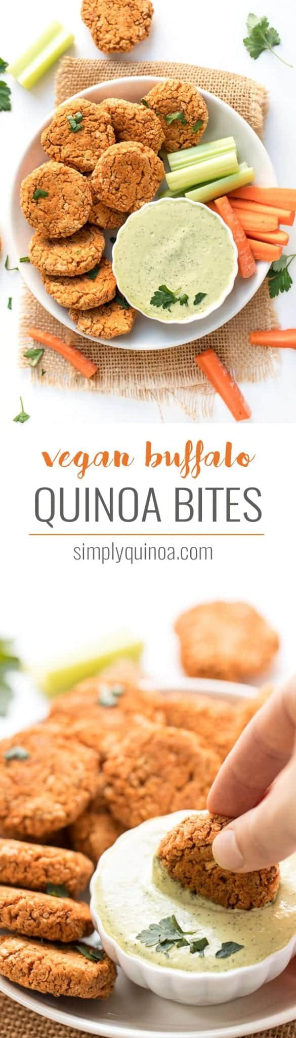 how to make vegan buffalo quinoa bites