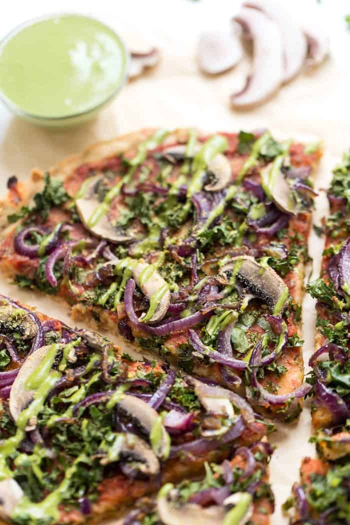 how to make grain-free vegan pizza crust