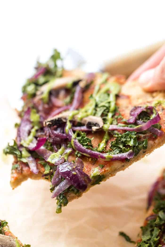 grain-free vegan pizza crust