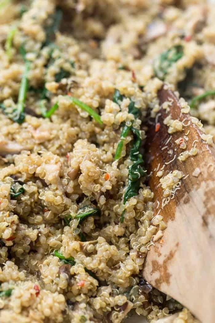 creamy mushroom quinoa risotto