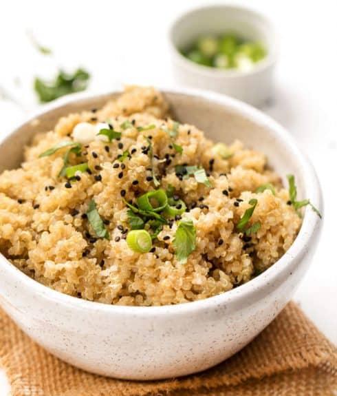 5-Ingredient Ginger Miso Quinoa