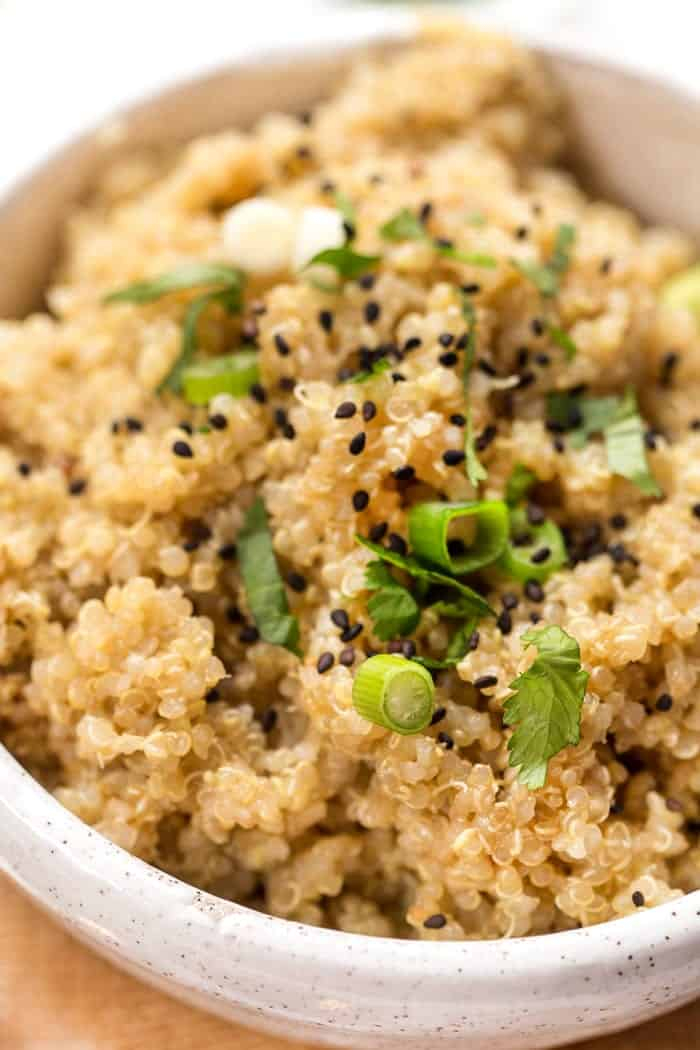 how to make fluffy quinoa with fresh ginger and miso