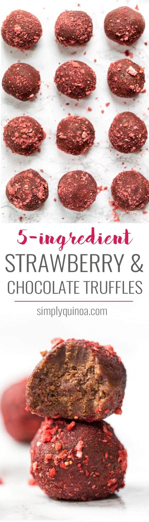 vegan chocolate truffles made with 5 ingredients