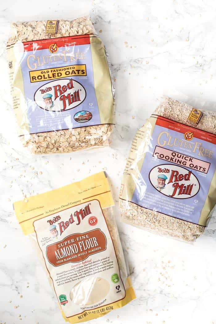 bob's red mill gluten-free oats and almond flour
