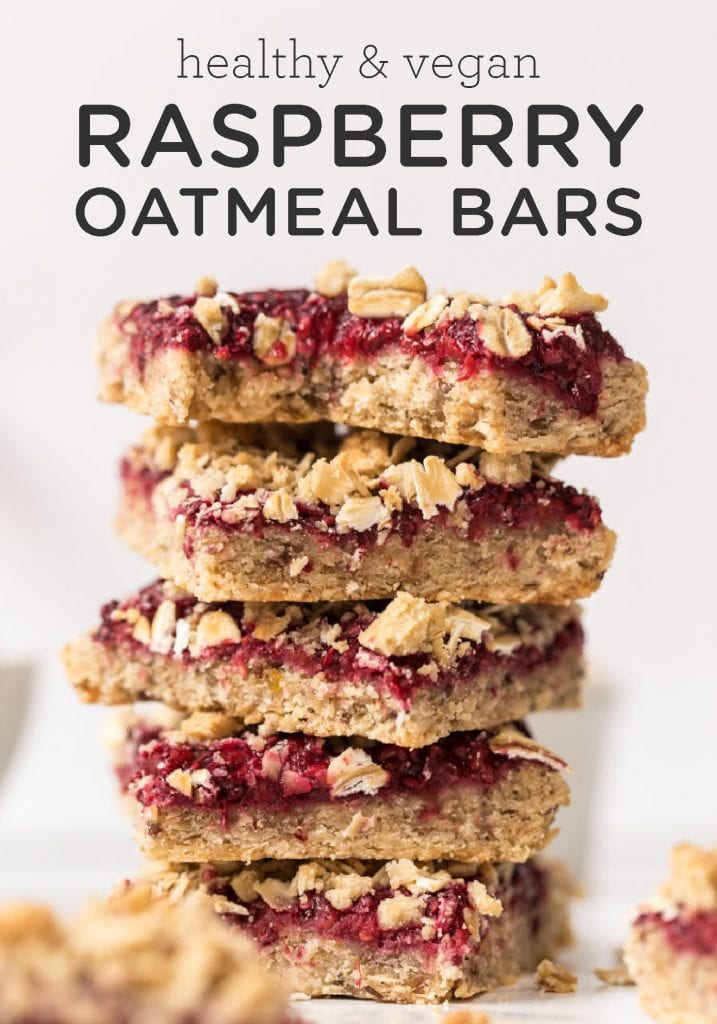 Vegan Raspberry Oatmeal Breakfast Bars