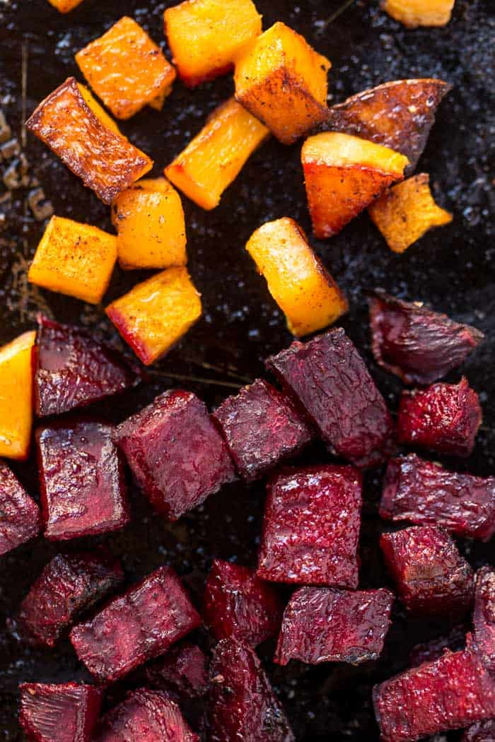 how to roast butternut squash and beets
