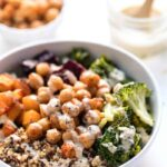 quinoa buddha bowls with roasted butternut squash